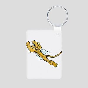 Flying Tiger Aluminum Photo Keychain