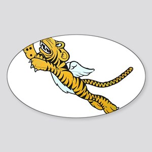 Flying Tiger Sticker (Oval)