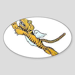Flying Tiger Sticker (Oval)