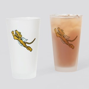 Flying Tiger Drinking Glass