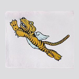 Flying Tiger Throw Blanket