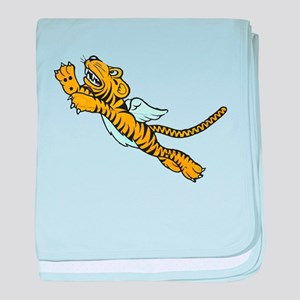 Flying Tiger baby blanket