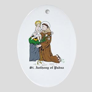 St. Anthony of Padua Oval Ornament