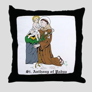 St. Anthony of Padua Throw Pillow