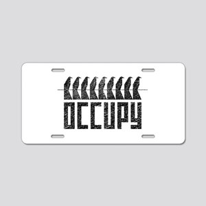 OCCUPY birds-on-wire Aluminum License Plate