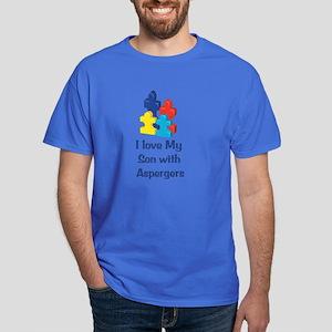 Love Aspergers Son Dark T-Shirt