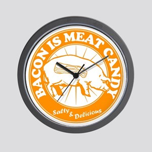 Bacon Is Meat Candy Wall Clock