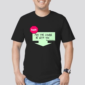 Rally Sign Men's Fitted T-Shirt (dark)