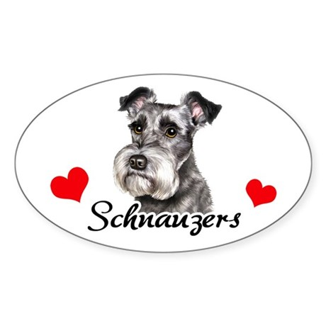 Love Schnauzers Sticker (Oval)