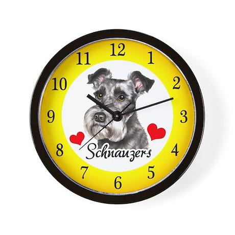 Love Schnauzers Wall Clock