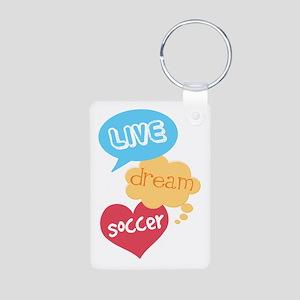 Soccer Gift Aluminum Photo Keychain