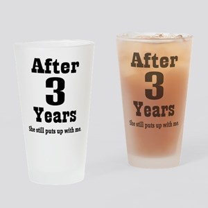 3rd Anniversary Funny Quote Drinking Glass