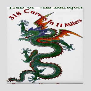 Tail Of The Dragon Tile Coaster