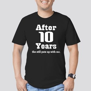 10th Anniversary Funny Quote Men's Fitted T-Shirt