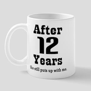 12th Anniversary Funny Quote Mug
