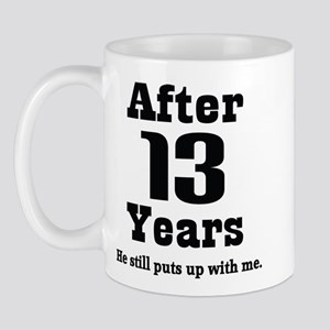 13th Anniversary Funny Quote Mug