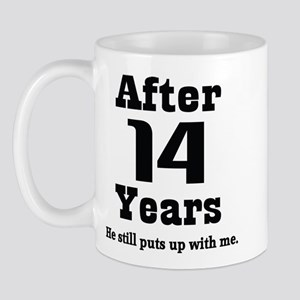 14th Anniversary Funny Quote Mug
