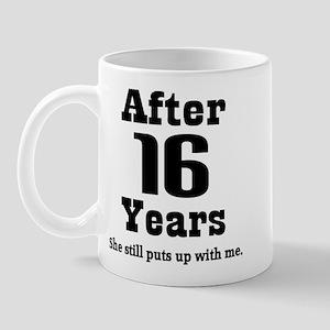 16th Anniversary Funny Quote Mug