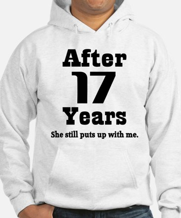 17th Anniversary Funny Quote Hoodie