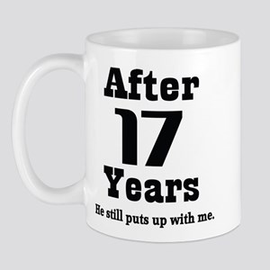 17th Anniversary Funny Quote Mug