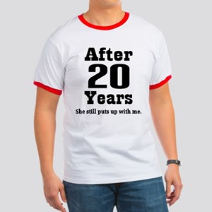 20th Anniversary Funny Quote Ringer T