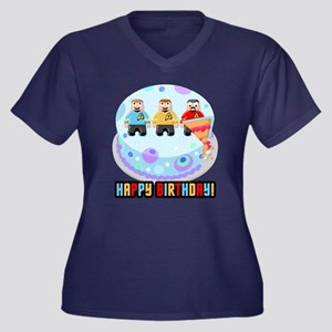 Star Trek Birthday Cake Plus Size T-Shirt