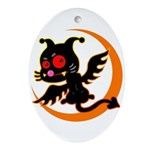 Devil cat Ornament (Oval)