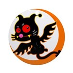 Devil cat Ornament (Round)