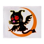 Devil cat Throw Blanket