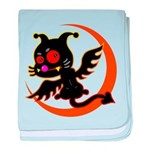 Devil cat baby blanket
