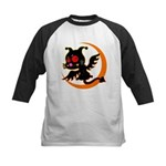 Devil cat Kids Baseball Jersey