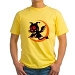 Devil cat Yellow T-Shirt
