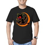 Devil cat Men's Fitted T-Shirt (dark)