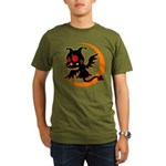 Devil cat Organic Men's T-Shirt (dark)