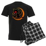 Devil cat Men's Dark Pajamas