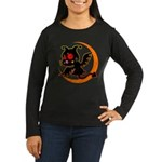 Devil cat Women's Long Sleeve Dark T-Shirt