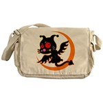 Devil cat Messenger Bag