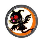 Devil cat Wall Clock