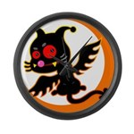 Devil cat Large Wall Clock