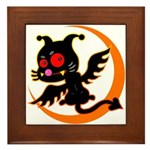 Devil cat Framed Tile