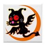 Devil cat Tile Coaster