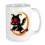 Devil cat Large Mug