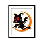 Devil cat Framed Panel Print