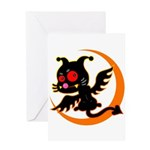Devil cat Greeting Card