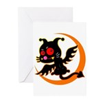 Devil cat Greeting Cards (Pk of 10)