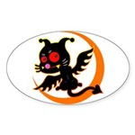 Devil cat Sticker (Oval 10 pk)