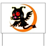 Devil cat Yard Sign