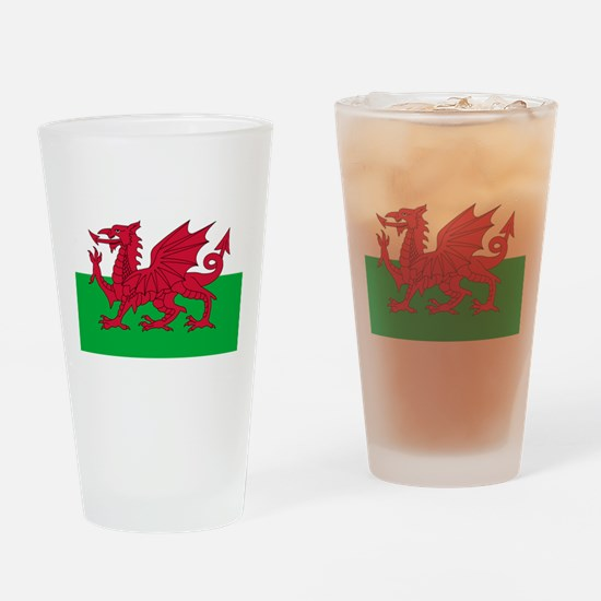 Welsh flag of Wales Drinking Glass