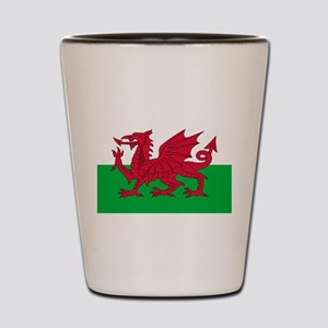 Welsh flag of Wales Shot Glass