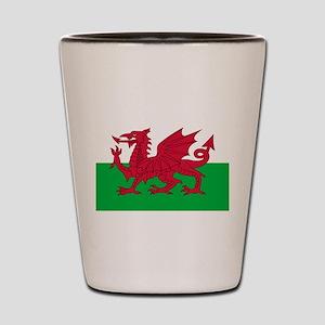 Welsh flag of Wales Shot Glass